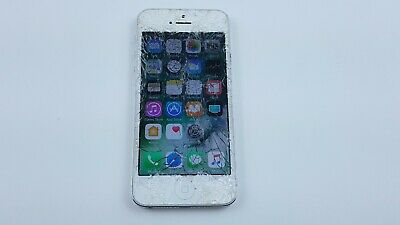 Apple iPhone 5s 16GB - Silver AT-T A1533 Smartphone Cracked Clean IMEI J5223