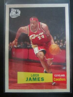 LeBron James 2007-08 Topps 1957-58 Variation 23 Cavaliers Lakers M
