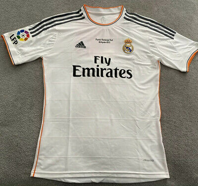 REAL MADRID ADIDAS HOME JERSEY RAUL RETIREMENT GAME LARGE REPLICA
