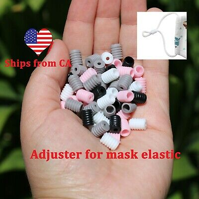 100 pcs Adjuster Cord Lock Silicone Stopper for Elastic