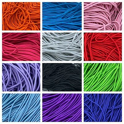 2mm 25 yards Shock Cord Round Elastic Stretch Beading String