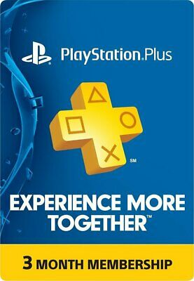 Sony PlayStation Plus 3-Month Subscription Membership