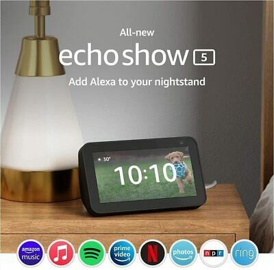 Amazon Echo Show 5 smart display with Alexa – stay connected with video calling