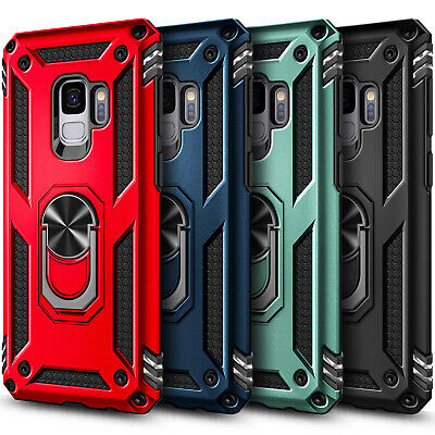 For Samsung Galaxy S9S9 Plus Case Ring Stand Phone Cover with Screen Protector