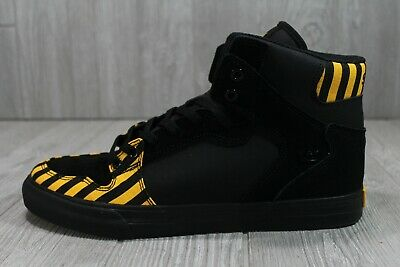 53 New Supra Skateboard 08206-821 Shoes Vaider CautionBlack Yellow Mens 9-5- 12