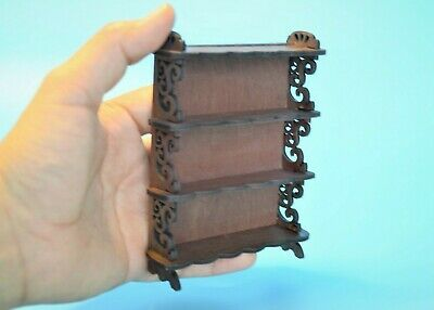 Dollhouse Miniature Handcrafted Book Shelf Display 3 12  x 4 12 112 scale