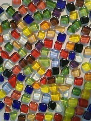 100 Crystal Pebbles Glass Mosaic Tiles - Mixed Assorted Colors - Arts and Crafts