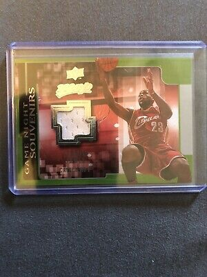 0809 Upper Deck Mvp Lebron James Game Used Jersey Game Night Souvenirs Mint