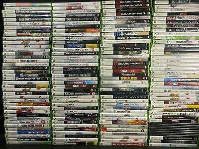 🔥🔥 XBOX 360 GAMES Large Lot YOU PICK EM CLEANED AND TESTED FREE SHIPPING!!