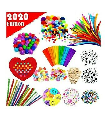 Arts and Crafts Supplies for Kids Bulk Assorted Crafting Materials Include Pipe