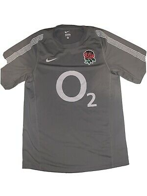 England Rugby Shirt O2 Grey Size S