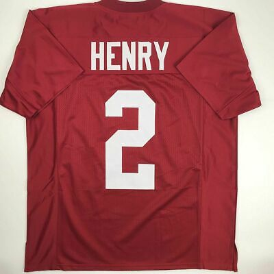 New DERRICK HENRY Alabama Red College Custom Stitched Football Jersey Mens XL