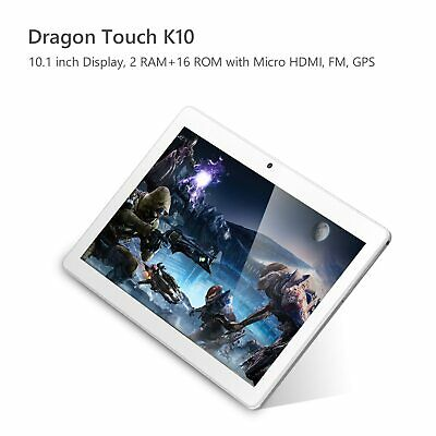 Dragon Touch K10 10-1 Quad Core Android Tablet 16GB WiFi HDMI GPS  Refurbished