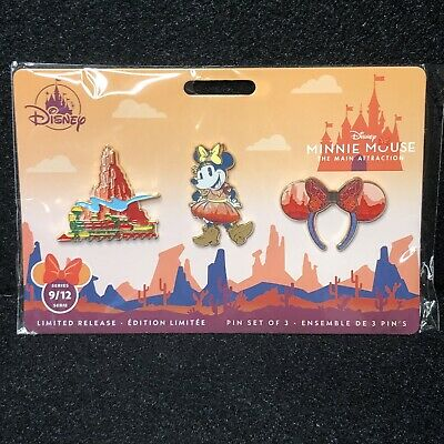 Disney Minnie Main Attraction Big Thunder Mountain Pin Set New