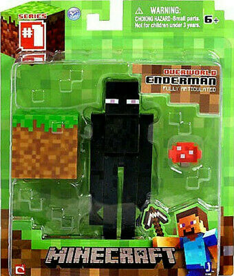MINECRAFT Overworld ENDERMAN 3 Action Figure Series 1 New Fully Articulated