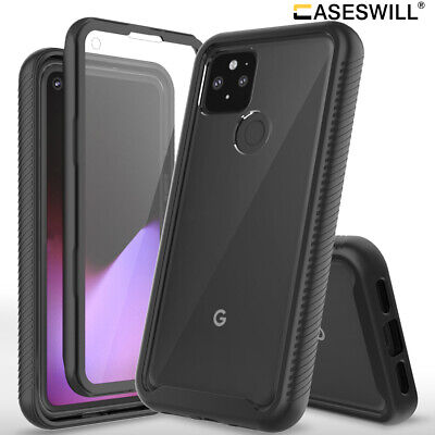 For Google Pixel 5 4A 5G 4 3a XL Rugged Clear Shockproof Case - Screen Protector