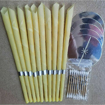 10PC Ear-Wax Candles Beeswax Cones Hollow Candle for Relax Cleaning   US STOCK