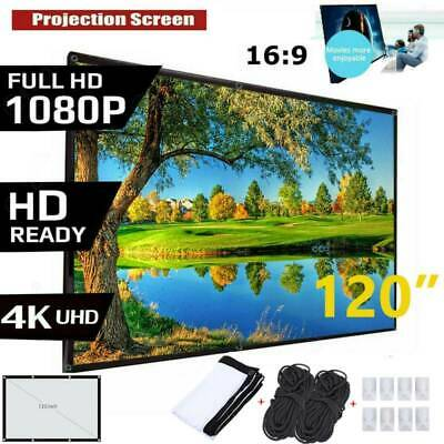 120 169 HD Projector Screen Home 4K Movie Theater Foldable