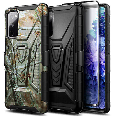 For Samsung Galaxy S20 FE 5G Case Belt Clip Holster Phone Cover - Tempered Glass