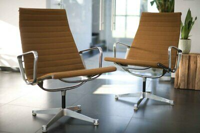 2 x Vintage EA 116 Aluchair by Charles & Ray Eames for Herman Miller