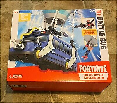 NEW SEALED - Fortnite Battle Royale 13 Battle Bus with 2 Exclusive Mini Figures