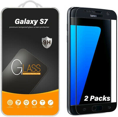 2X Supershieldz Tempered Glass Full Cover Screen Protector for Samsung Galaxy S7