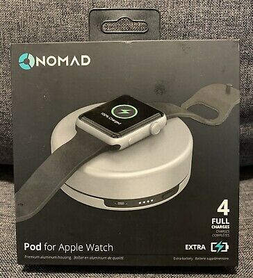 Nomad Charging Pod for Apple Watch - Silver - APPLE New-Open Box