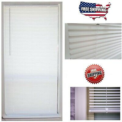 Cordless 1 in- Vinyl Mini Blind Window Shade 64 Length All Size Width Indoor