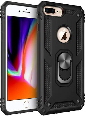 For Iphone 7Plus - iPhone 8Plus Case Kickstand Shockproof Ring Holder Hard Cover