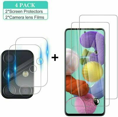 2-Pack For Samsung Galaxy S20 FE 5G Tempered GlassCamera Lens Screen Protector
