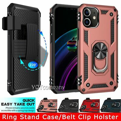 For iPhone 12 Mini 11 Pro X XS Max XR 6s 8 7 Plus SE 2020 Ring Stand Case Cover