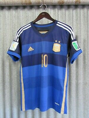 ADIDAS LIONEL MESSI ARGENTINA AWAY JERSEY FIFA WORLD CUP 2014 Mens Size M Nice