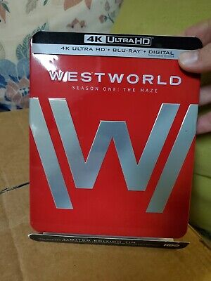 Westworld The Complete First Season - 4K - Bluray LIMITED EDITION TIN -Damage