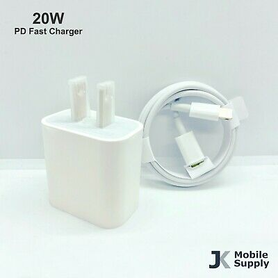 For iPhone 12 11 Pro Premium 20W Fast Charger USB-C Type-C Power Adapter Cable