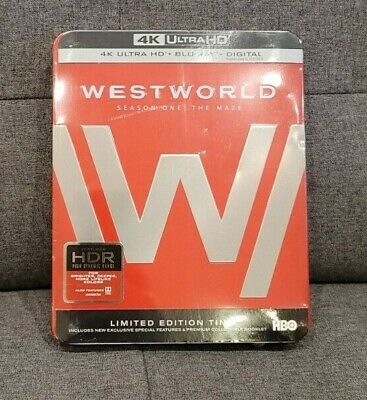 New Sealed Westworld Complete Season 1 Steelbook 4K-Blu-ray-Digital