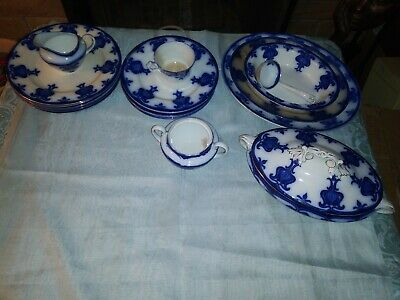 Wedgewood - CL Imperial Porcelain floral blue china dinnerware sets