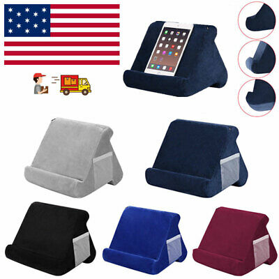 Phone Tablet Pillow Holder Mult-Angle Stand Foam Reading Bed Support Cushion US