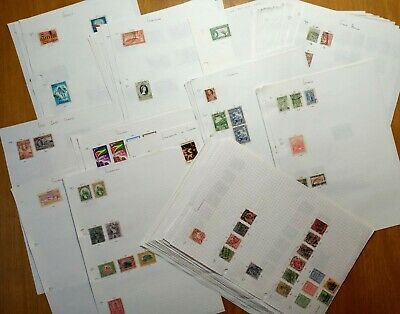 G COUNTRIES GB Germany Gibraltar Greece Ghana etc Hundreds of Stamps on Sheets