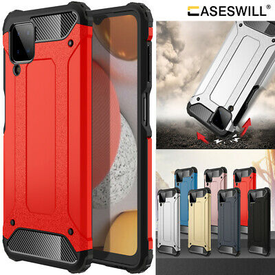 For Samsung Galaxy A12 Case Heavy Duty Armor Hybrid Shockproof Protective Cover