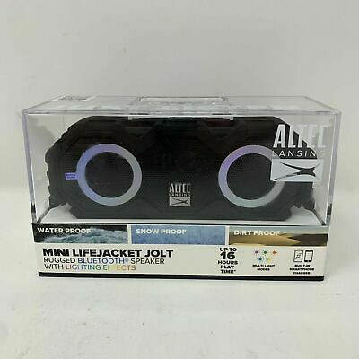 Altec Lansing Mini LifeJacket Jolt Portable Bluetooth Speaker with Lights Black