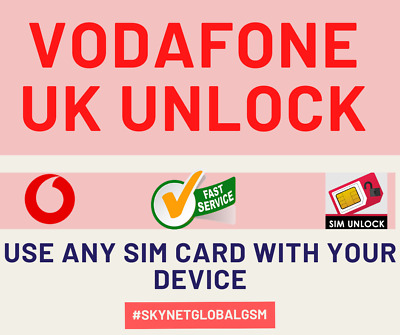 iPHONE NETWORK UNLOCK SERVICE VODAFONE UK for iPhone 5 6s 6s PLUS 7 7+ 8 X XS 11