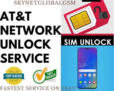 NETWORK UNLOCK SERVICE for IMEI AT&T SAMSUNG S10 S9 S8 S7 S6 ACTIVE Edge Note