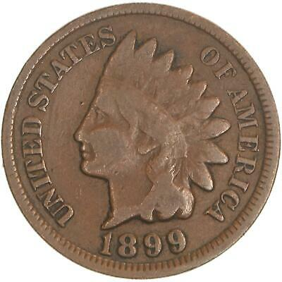 1899 Indian Head Cent Very Good Penny VG
