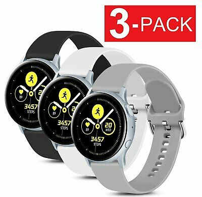 3-Pack  For Samsung Galaxy Watch Active 2 40 42 44mm Watch Band Silicone Strap