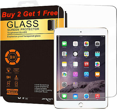 High Premium Tempered Clear Glass Screen Protector For Apple iPad Mini 123