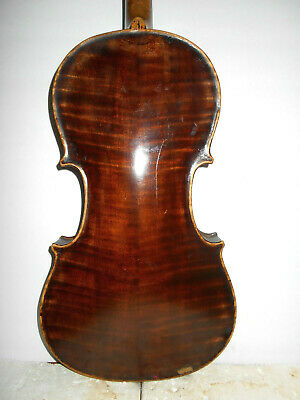 Antique Old Vintage AB Clark Repaired Richmond Ind. 1908 Full Size Violin NR