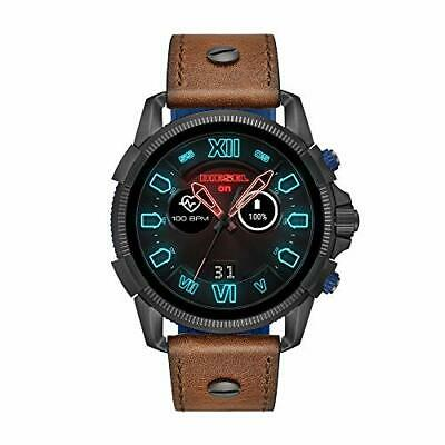 Diesel Mens Stainless Steel Touchscreen Watch with Leather Band Strap Brown 2