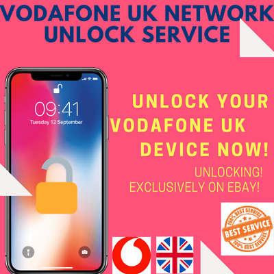 EXPRESS FAST UNLOCK SERVICE FOR iPhone 11 Pro Max Xs X 8+ 8 7+ 7 6s Vodafone UK
