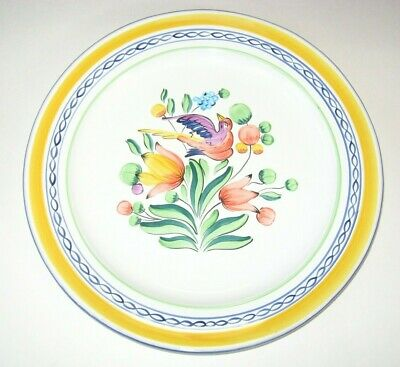 Herend Village Pottery MORNING SONG Chop Plate Platter Handpainted Bird Hungary