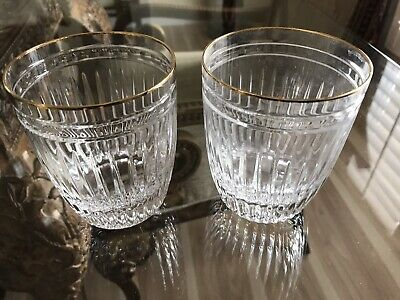 2 Waterford Marquis Hanover Gold Double Old Fashioned Glasses 4